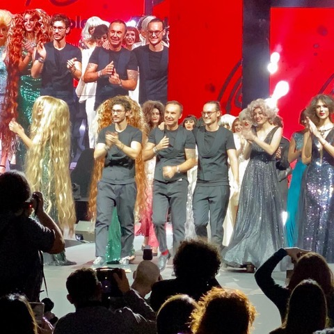 The hairstylist Mario Firriolo and his team