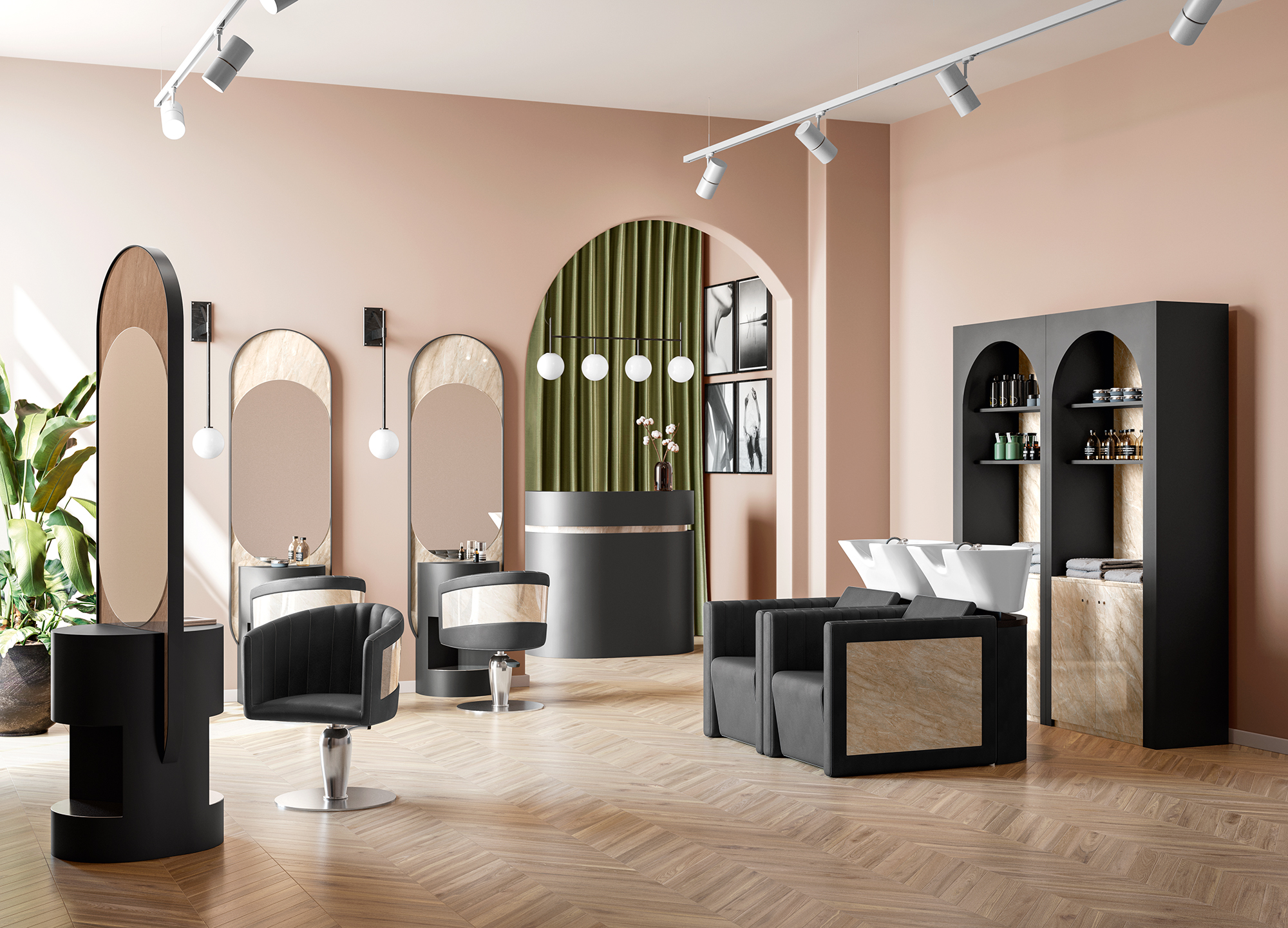 Allure Salon Furnishing Line by Vezzosi