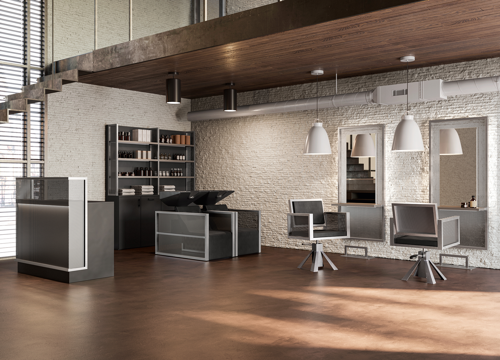 Iron Salon Furnishing Line by Vezzosi